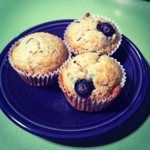 All-Stars' Banana-Blueberry Vegan Muffins