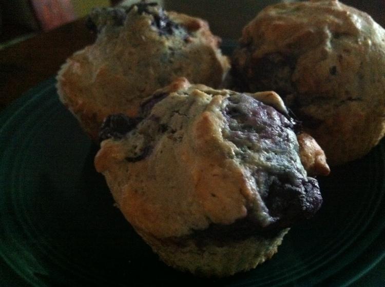 Vegan Blueberry-Lemon Muffins