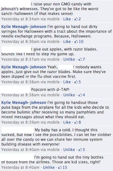 Funny Halloween Facebook Thread