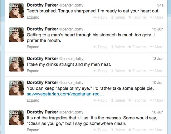Dorothy Parker Tweets