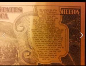 Fake Money with Religious Halloween Message