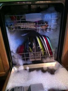 Dishsoap in Dishwasher