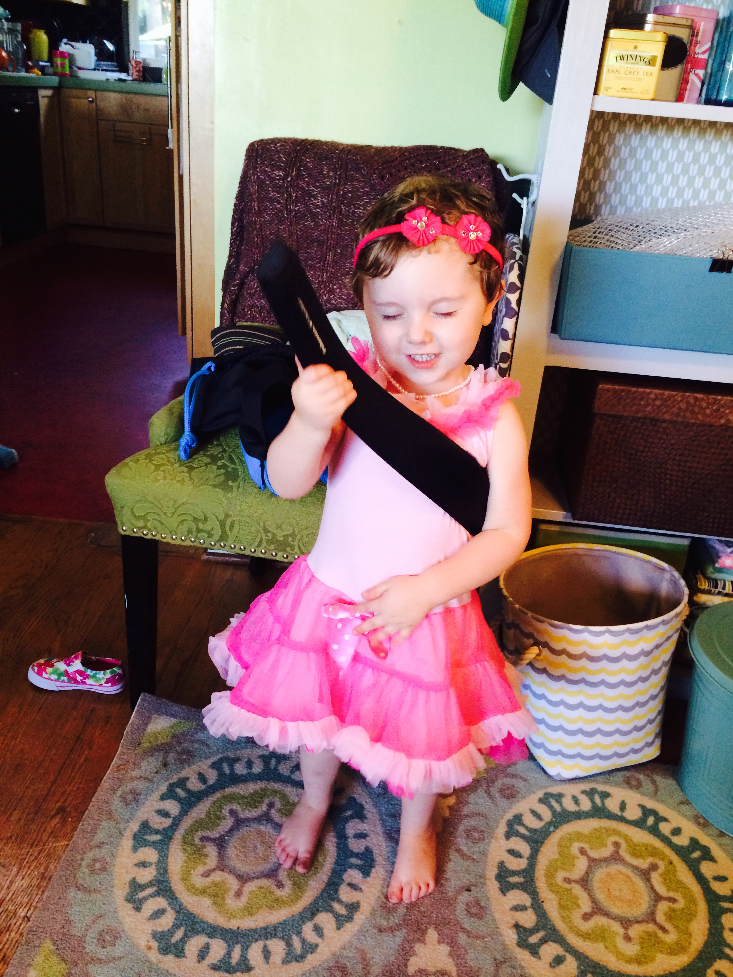 boy in pink dress