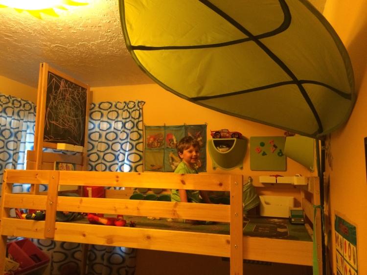 IKEA Toy Loft bunkbed Mydal hack