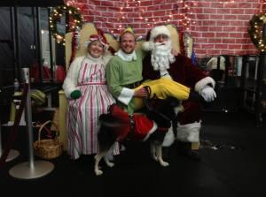 Santa & Mrs. Claus and an Elf